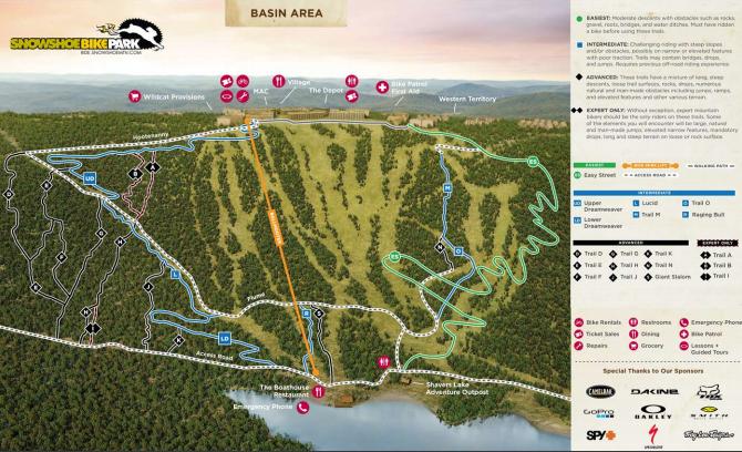 Bike Park Map 1